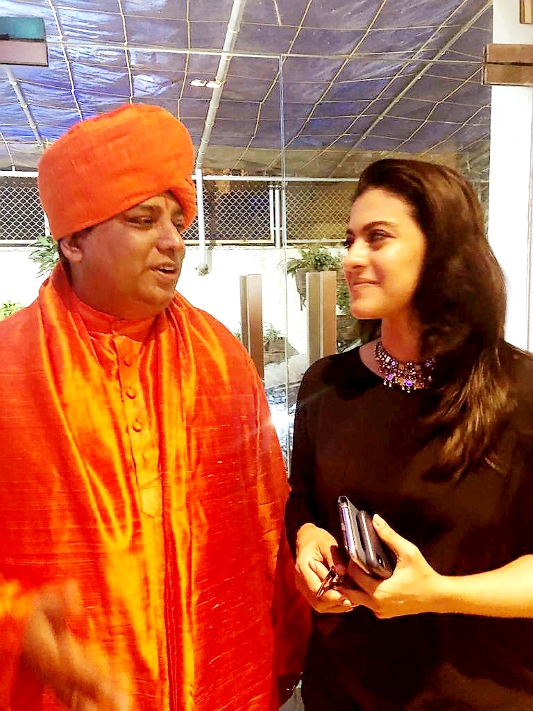 Jeevanacharya with Actress Kajol