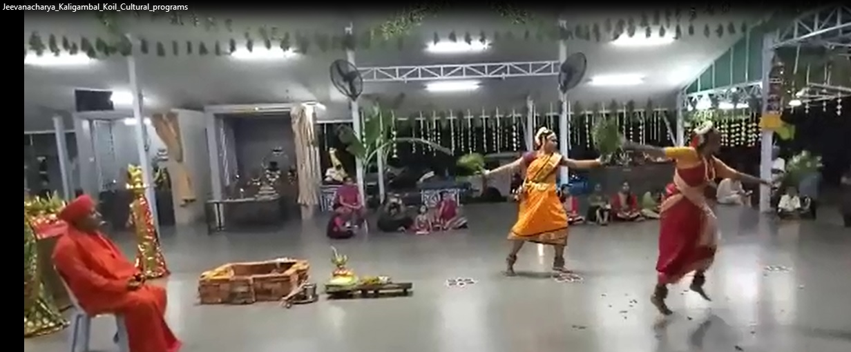 Jeevanacharya cultural programs in Kaligambal Temple , Malaysia.